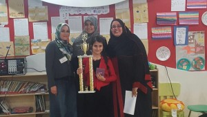 Our First Place Spelling Bee Winner
