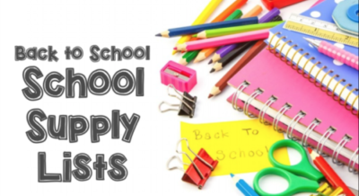 School Supply List Updated
