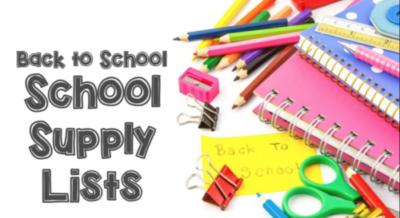 School Supply List Updated