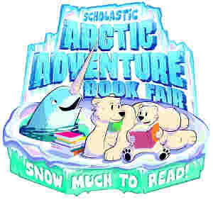 animals surrounded by books on ice - Arctic Adventure Book fair